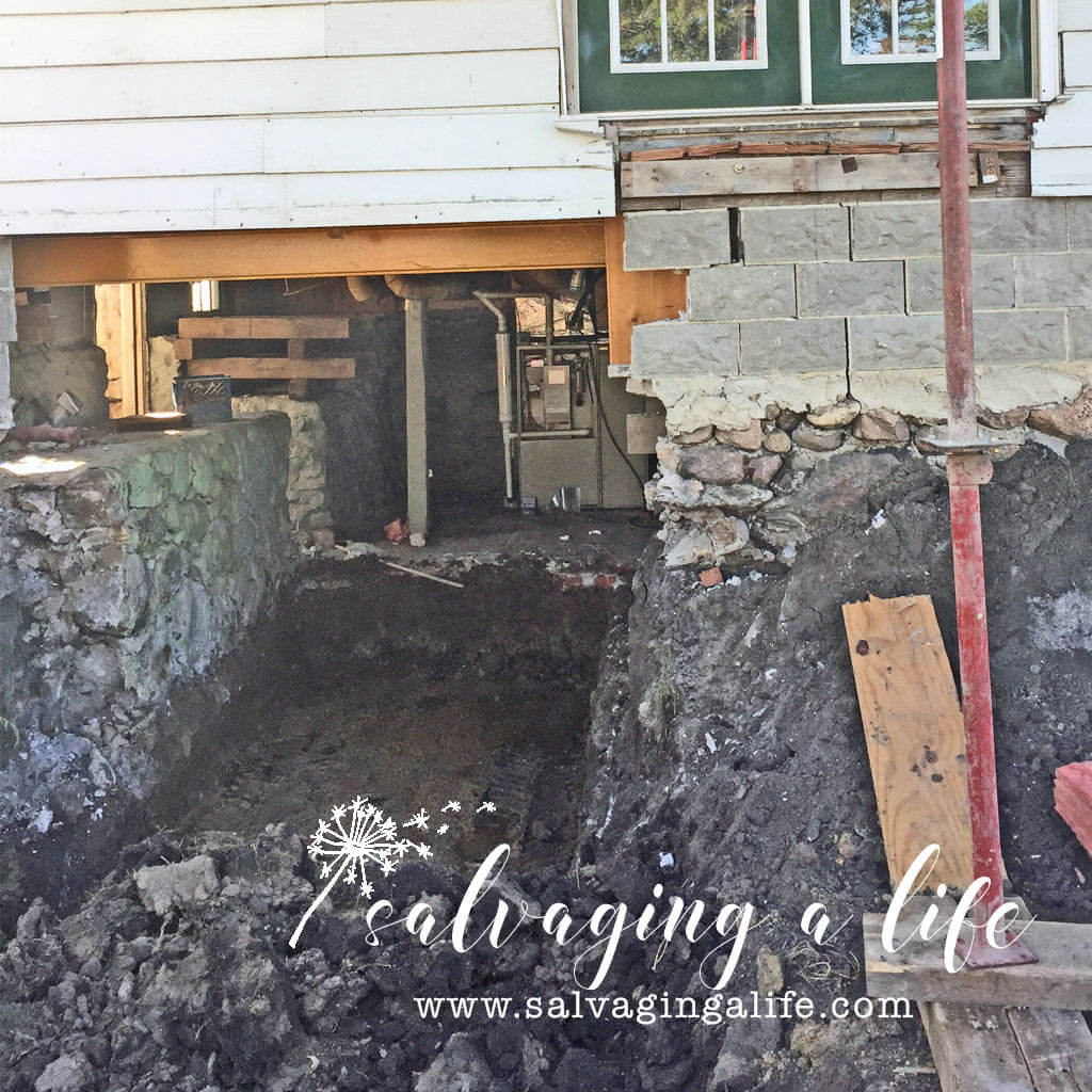 Salvaging A Life - Stone and mortar basement excavation