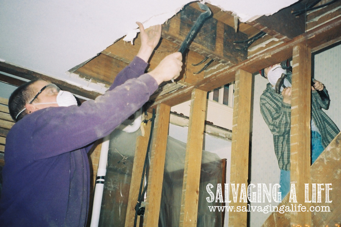 Salvaging A Life - Salvaging The House - stairway removal