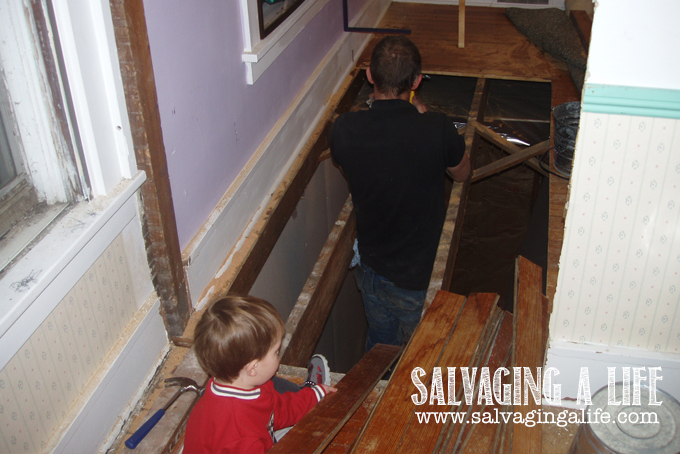 Salvaging A Life - Salvaging The House - moving the stairway