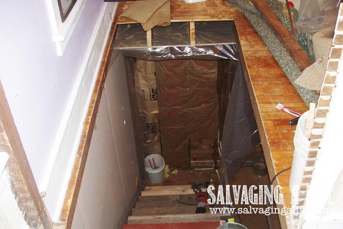 Salvaging A Life - Salvaging The House moving the stairway