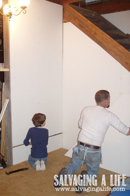 Salvaging A Life - Salvaging The House: moving the stairway