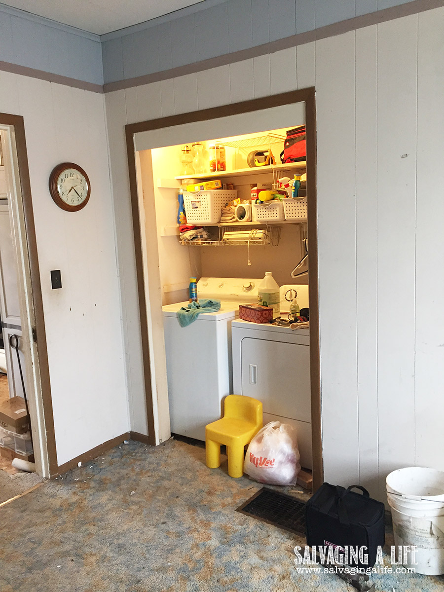 Salvaging A Life - Laundry Room Remodel