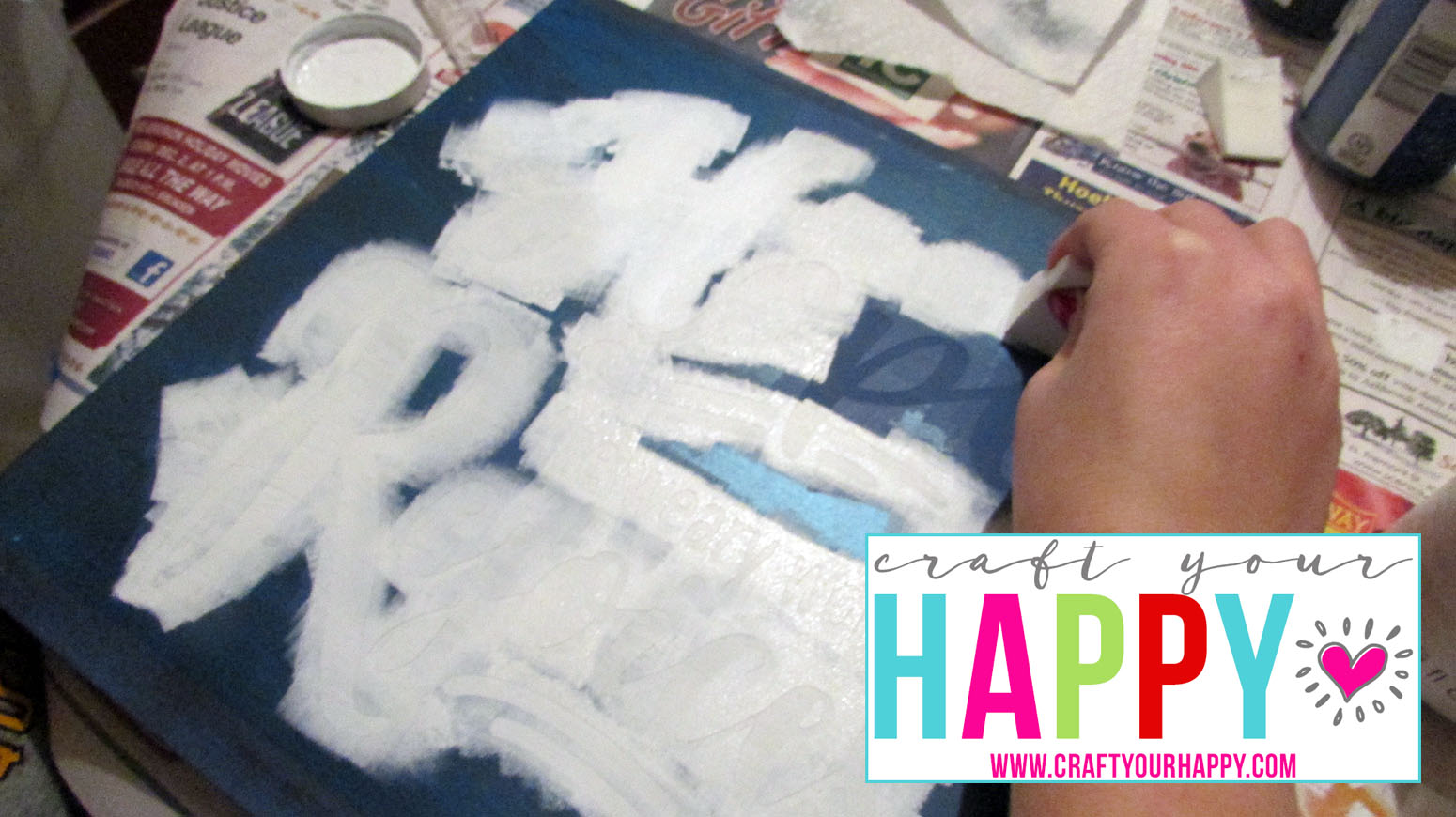 Free Cut File: The Thrill Of Hope The Weary World Rejoices painting the stencil letters