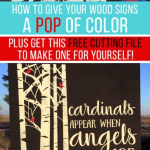 How To Get A Pop Of Color On Your Wood Signs