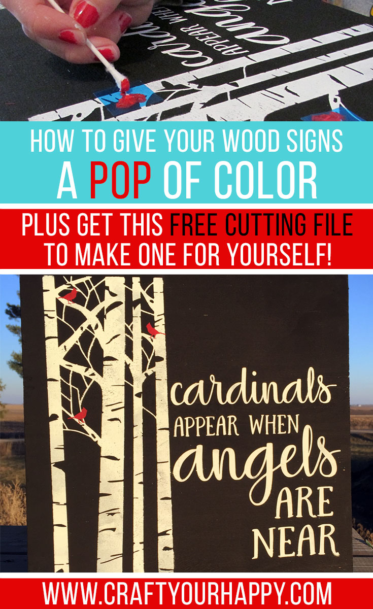 How To Make Your Wood Signs Have A Pop of Color