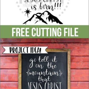 Free Cutting File:  Go Tell It On The Mountain