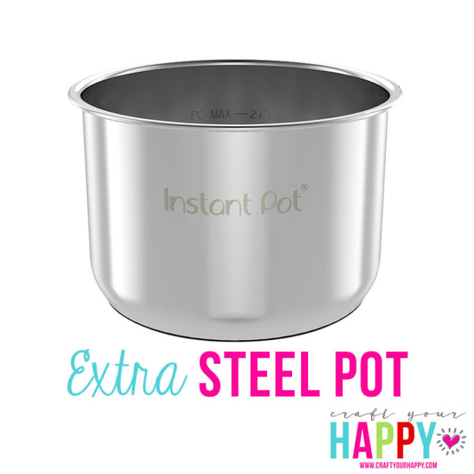 This extra steel pot is one of my 5 must have accessories for the Instant Pot.