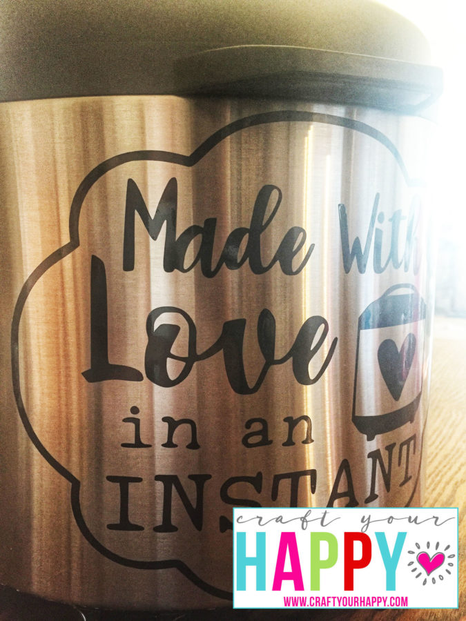 Made With Love In An Instant cutting file for an Instant Pot decal.