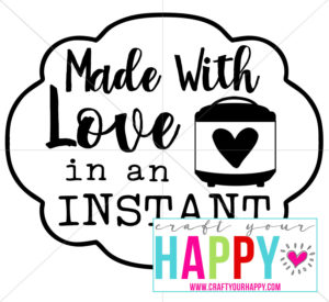 Here's a free cutting file for your Silhouette Cameo or Cricut so you can make an Instant Pot decal.