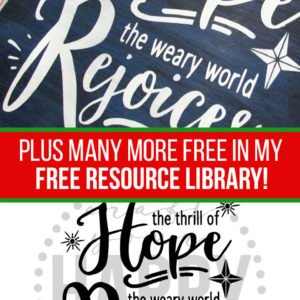 Free Cut File:  The Weary World Rejoices