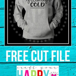 Free Cut File:  I'm So Freaking Cold
