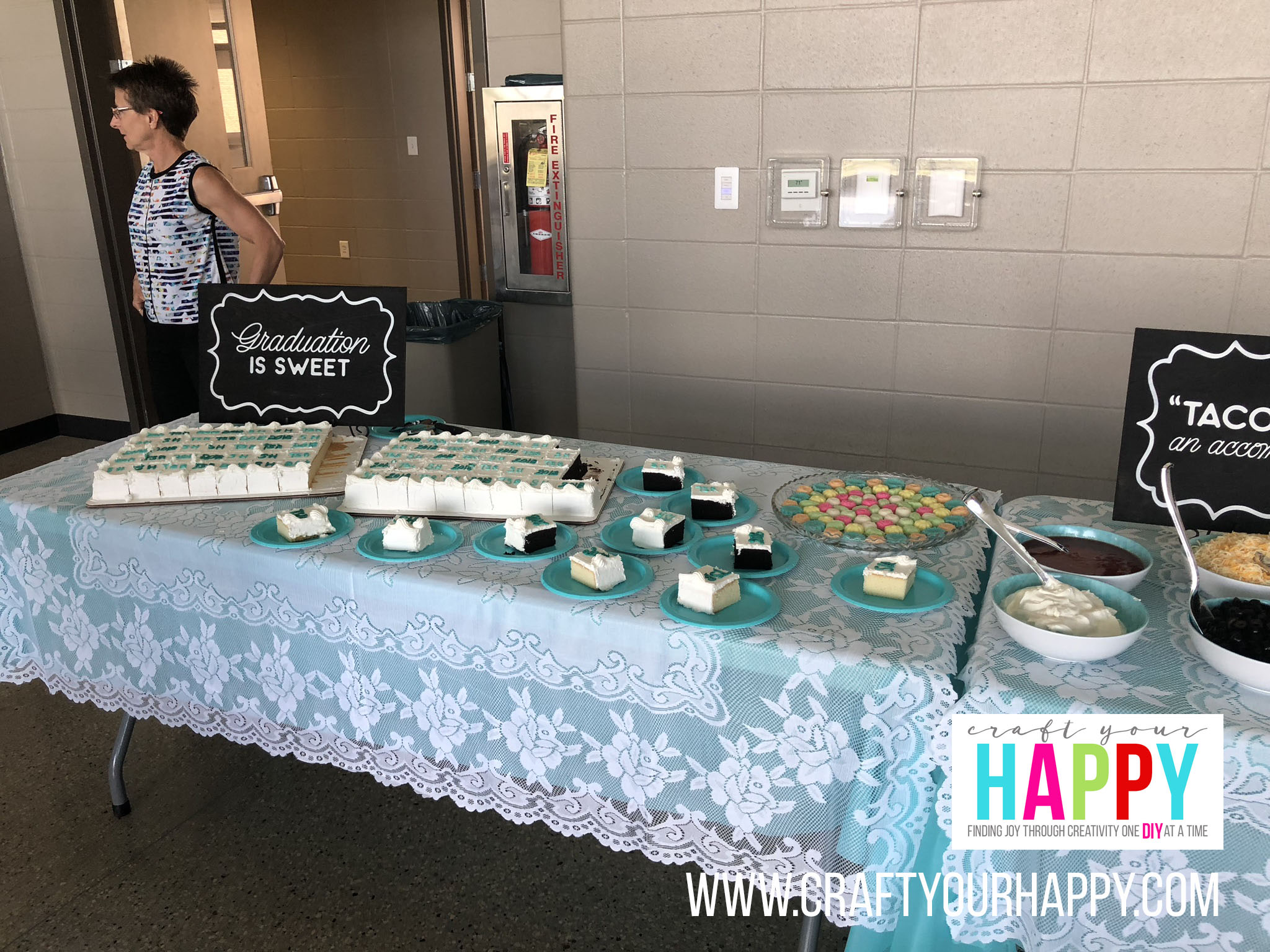 Craft Your Happy - Grad Party On A Budget - Dessert Table - Cream Cheese Mints