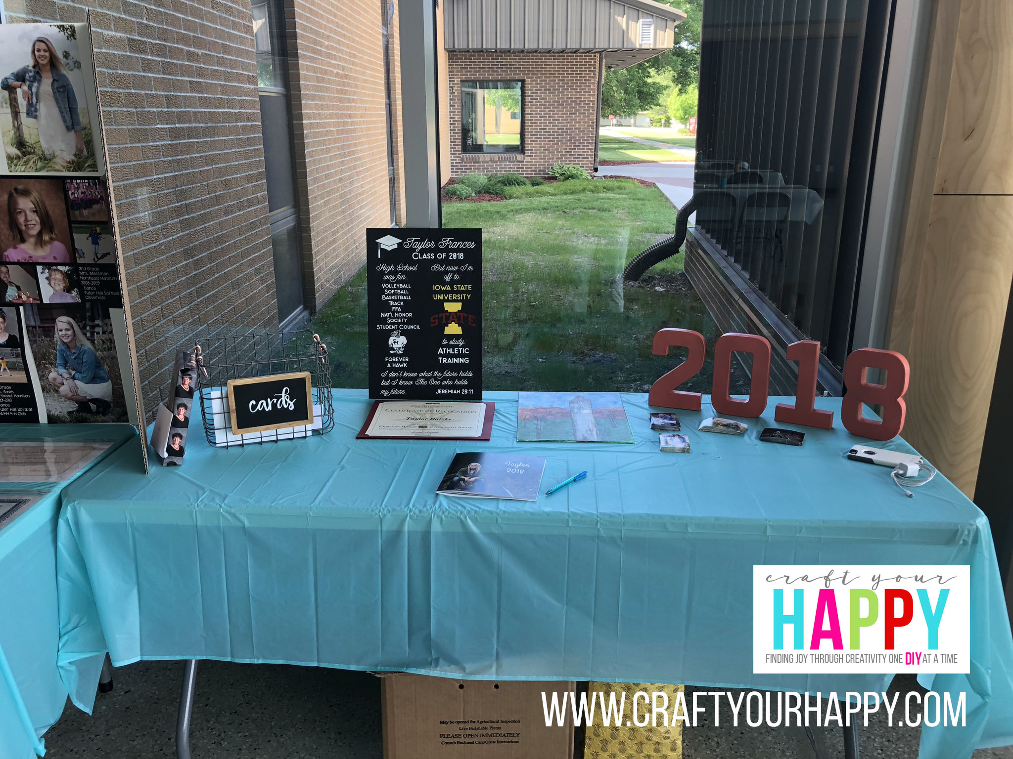 Craft Your Happy - Grad Party On A Budget - Graduation Chalk Sign