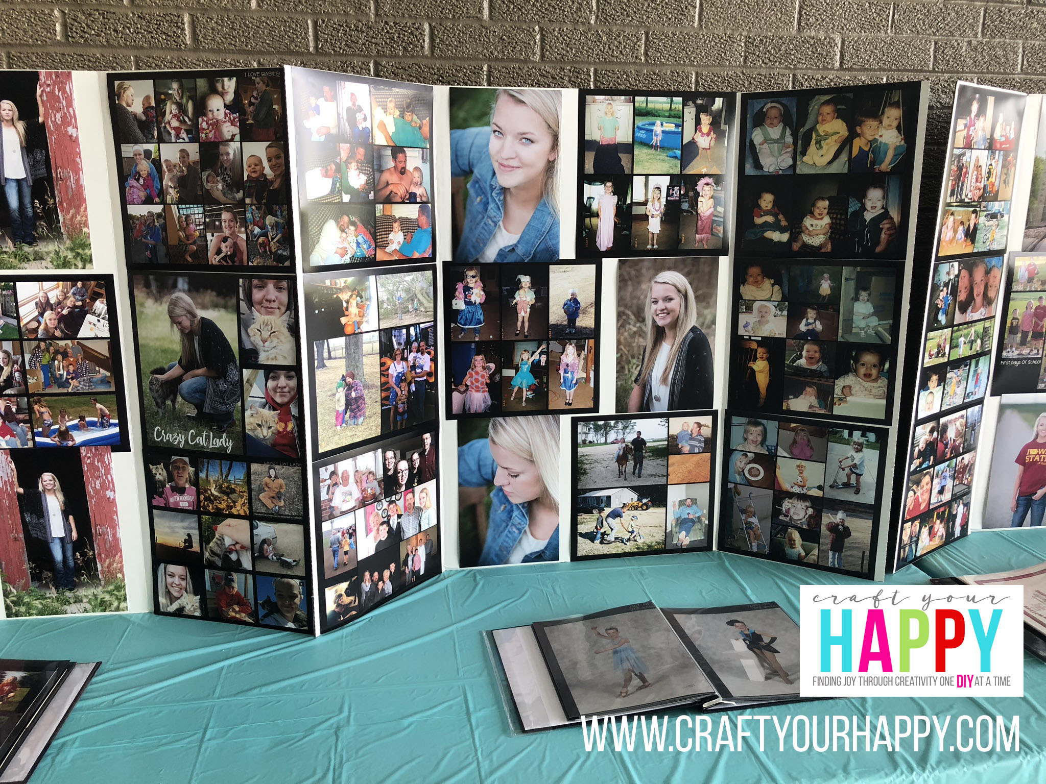 Craft Your Happy - Grad Party On A Budget - Photo Collage Display