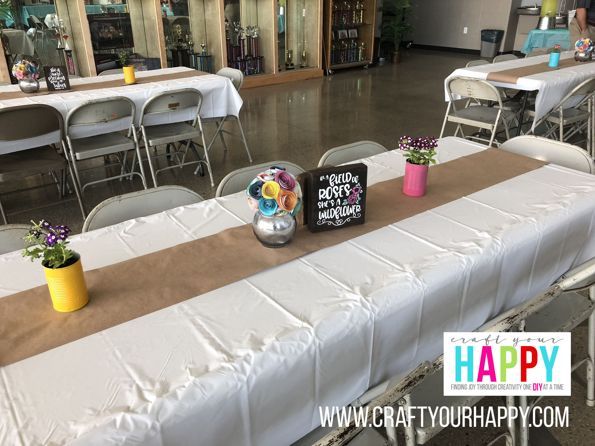 Craft Your Happy - Project Graduation - DIY Grad Party On A Budget - Table Decor