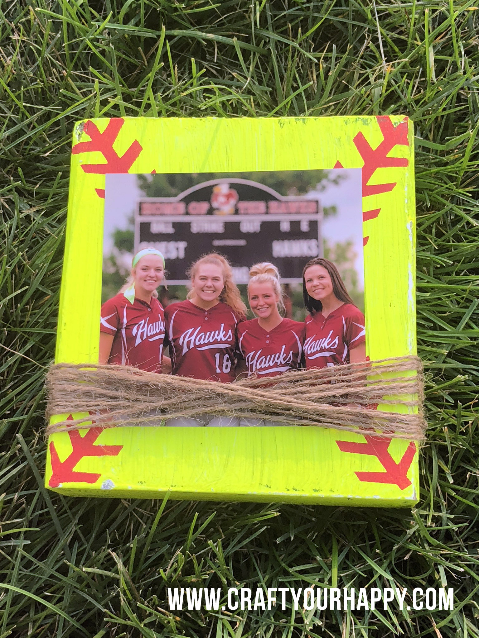 Craft Your Happy - Softball Picture Holders