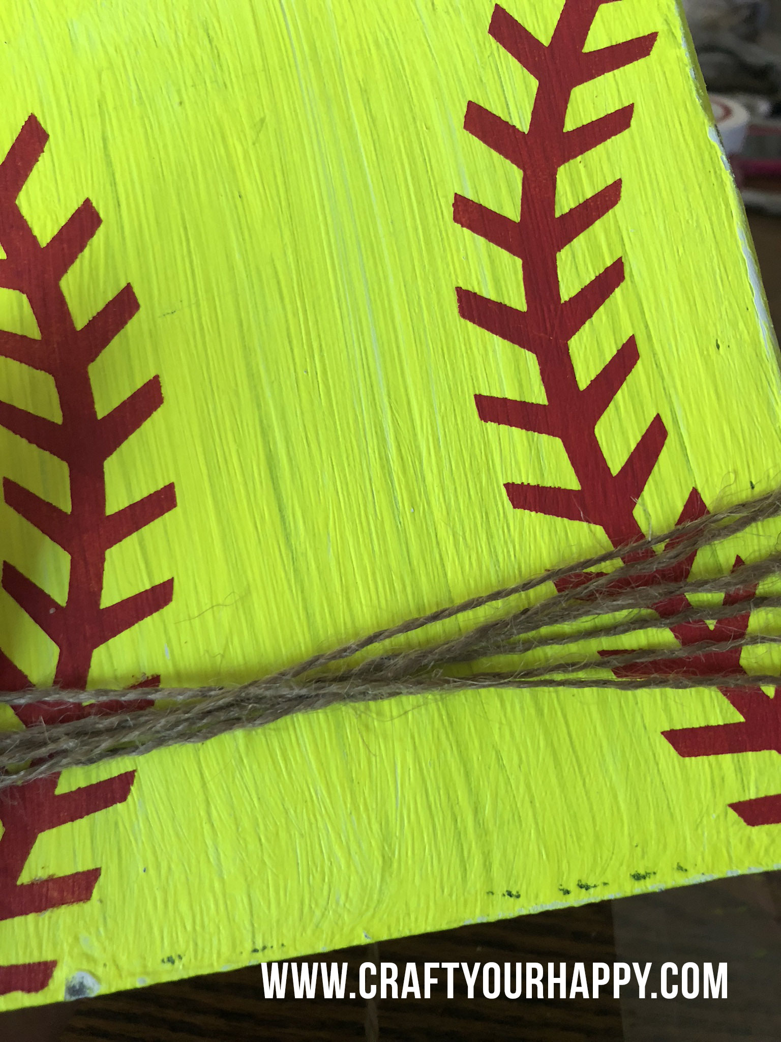Craft Your Happy - How To Make A Softball Photo Holder
