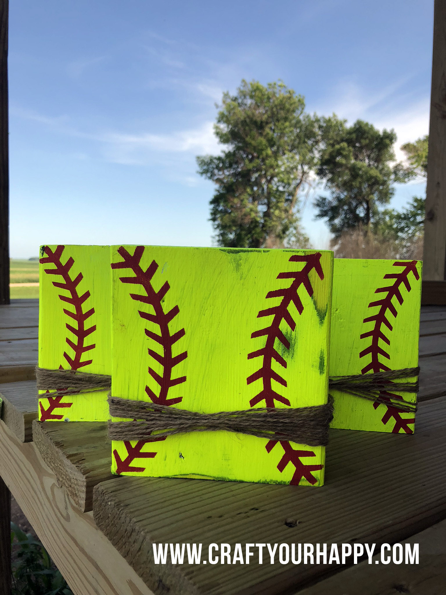 Craft Your Happy - How To Make Softball Picture Holders