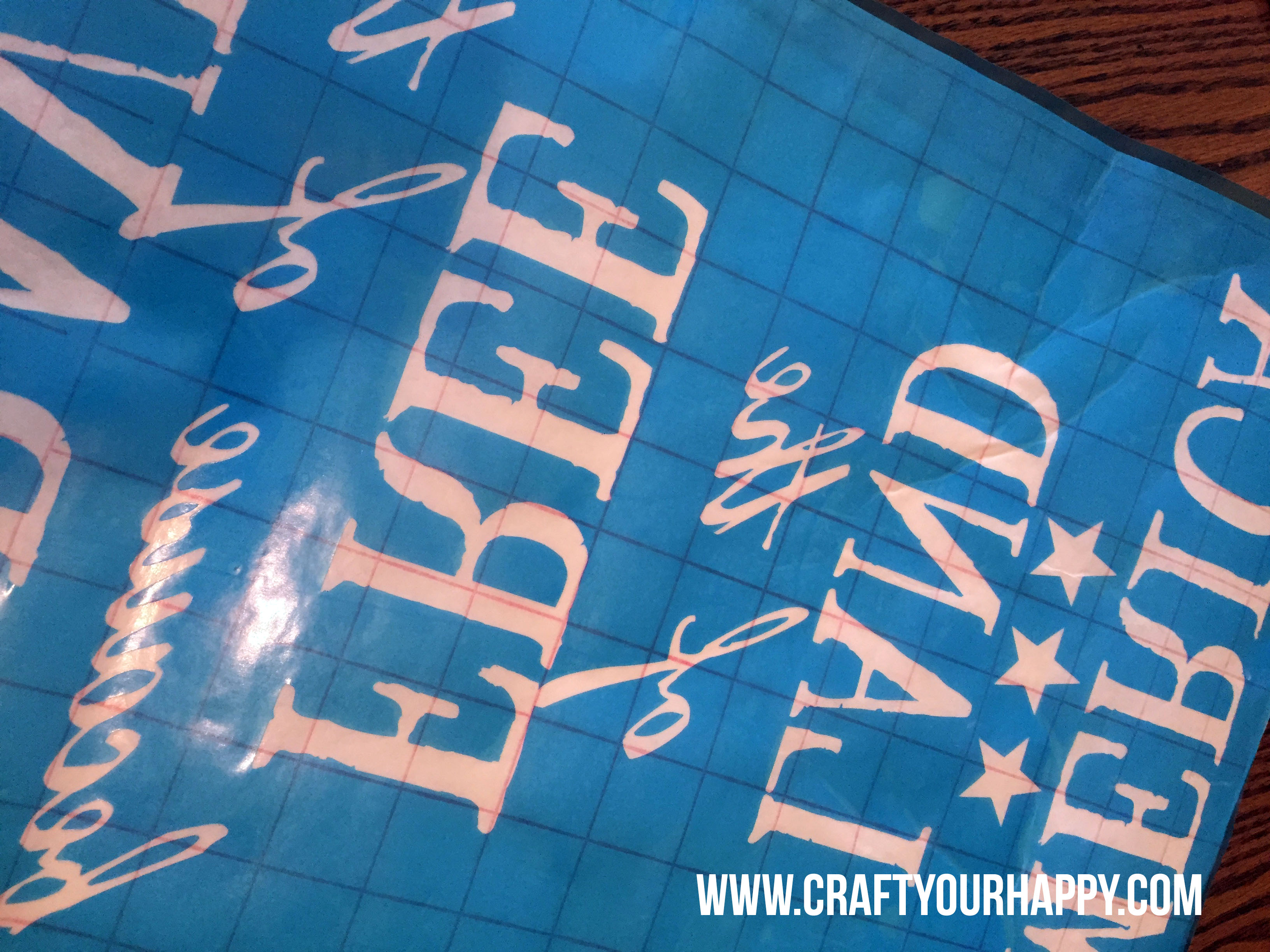 Craft Your Happy -How To Make A Stenciled Sign