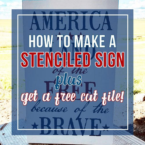 Craft Your Happy - How To Make A Stenciled Sign
