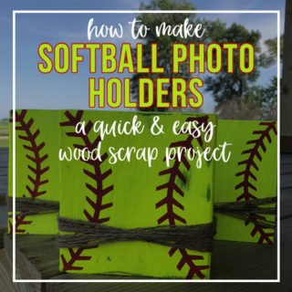 Craft Your Happy - How To Make Softball Photo Holders