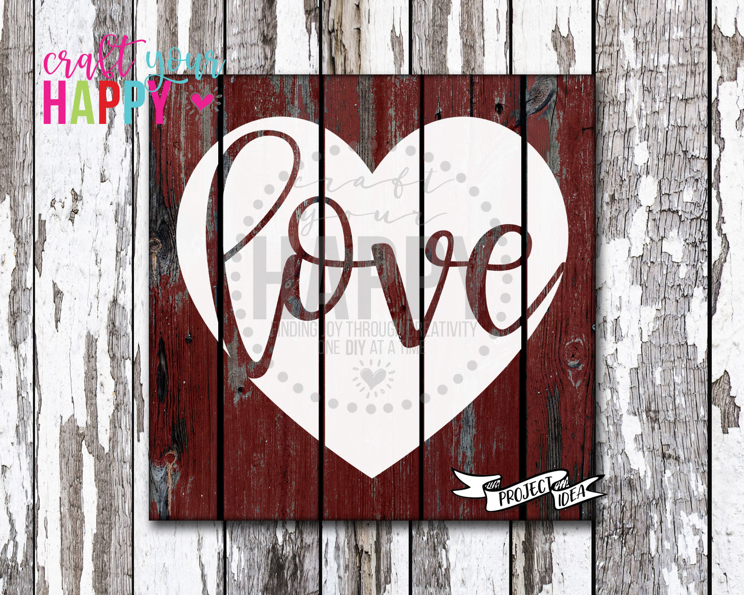 Free Valentine SVG Cut File - Love In Heart for Silhouette and Cricut cutters.